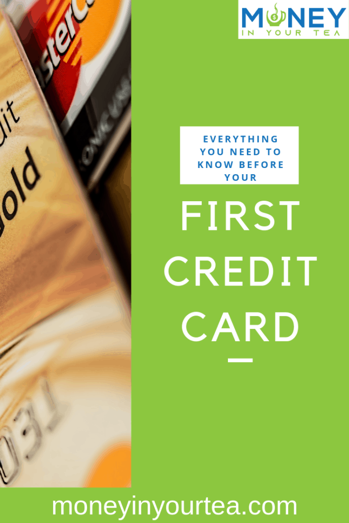 Everything you need to know to apply for your first credit card. Read it now at Money In Your Tea! #savingmoney #money #personalfinance #blog #savings #genz #generationz #millennial #creditcard #payment