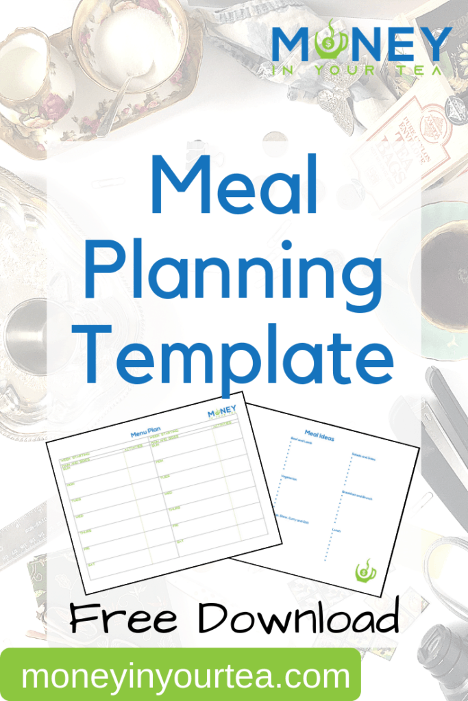 Click to moneyinyourtea.com to get a free meal planning template that is reusable. Enjoy healthy and delicious dinners every night. #mealplanning #freeprintable #healthy #dinner #template #planner #family