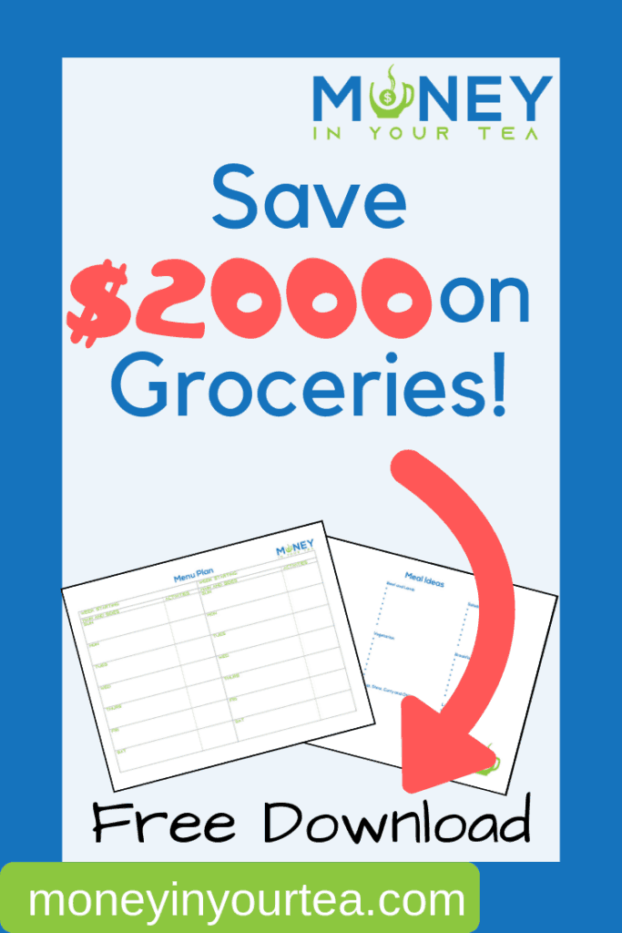 Find out how your family can save up to $2,000 or more on groceries every year! Bonus: free meal planning template. #mealplanning #freeprintable #healthy #dinner #template #planner #family #savemoneyongroceries #budget