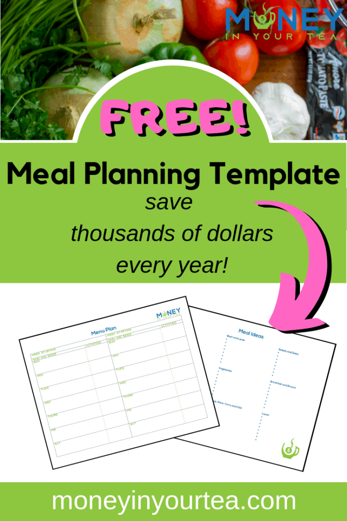 This free and reusable meal planning template will save you thousands of dollars every year on groceries. Plan around your family's busy schedule. #mealplanning #freeprintable #healthy #dinner #template #planner #family #savemoneyongroceries #budget