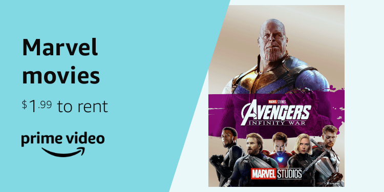Amazon Prime Day 2019 Marvel movies $1.99 to rent at Prime Video