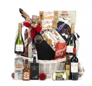 Gift basket, overflowing with treats