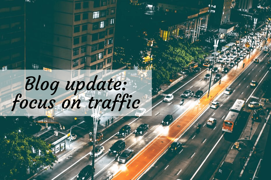 Blog traffic update
