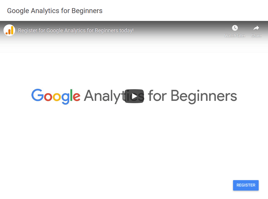 Google Analytics for Beginners video produced by Google. An essential tool for looking at blog traffic.