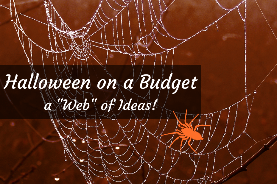 "Halloween on a Budget, a ""web"" of ideas"