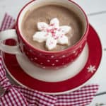 Cinnamon Hot Chocolate Mix, made in red mug