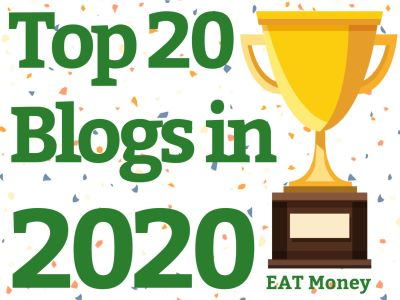Featured in Top 20 Blogs in 2020 by EAT Money