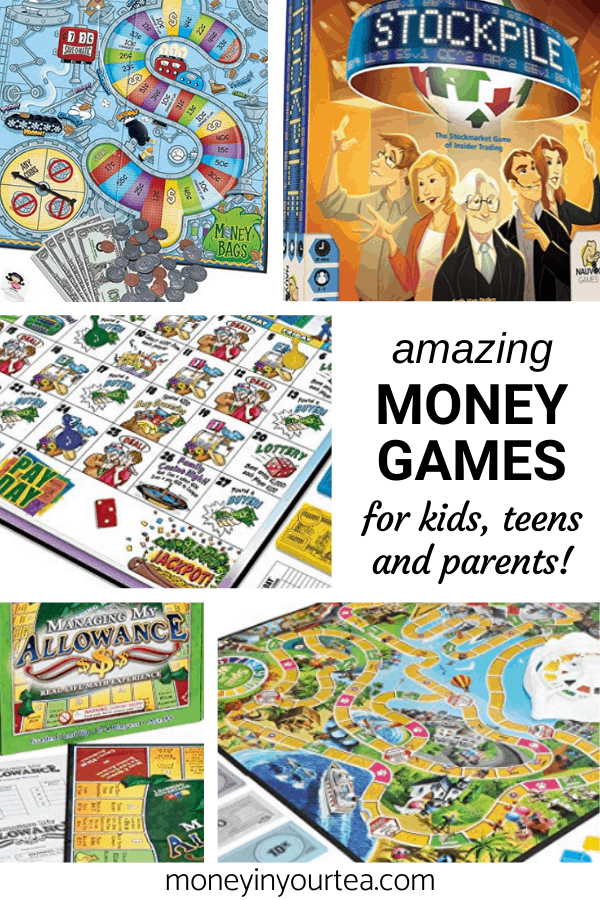 Fun money games for kids, teens and parents, by moneyinyourtea.com