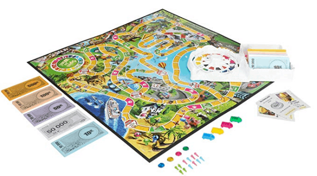 The Game of Life, a classic money game for children