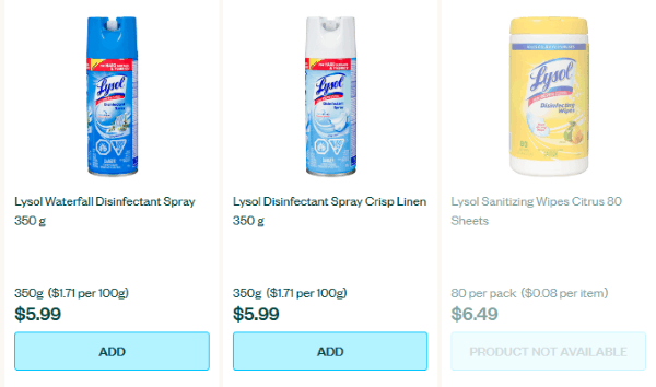 Review of Voilà by Sobey's - some popular items are not available
