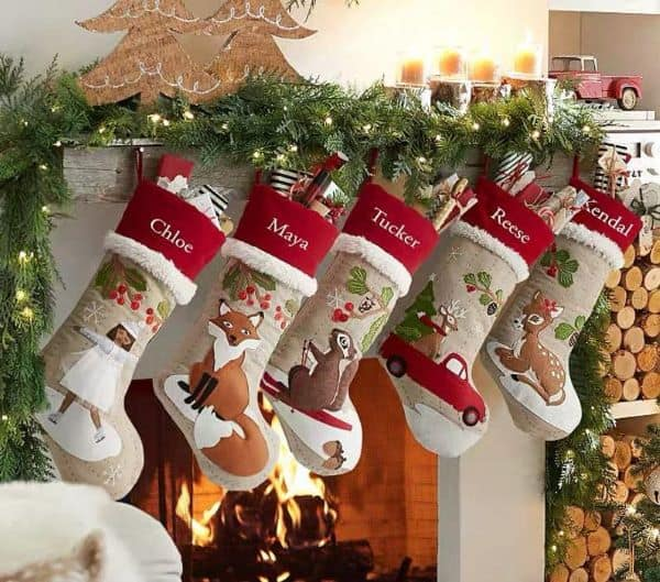 Etsy personalized Christmas stockings